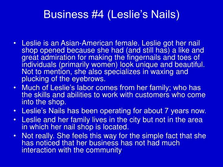 Business #4 (Leslie's Nails)