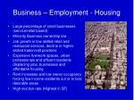 business employment housing
