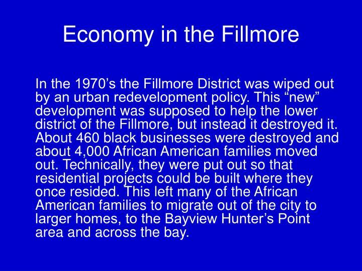 Economy in the Fillmore