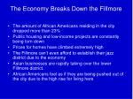 the economy breaks down the fillmore