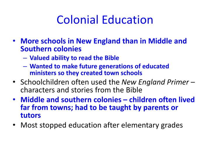 colonization and education Through centuries of colonialism, neocolonialism, cold war  method of  colonization included establishing schools which taught english language   software schooling: the value of computer science in early education.