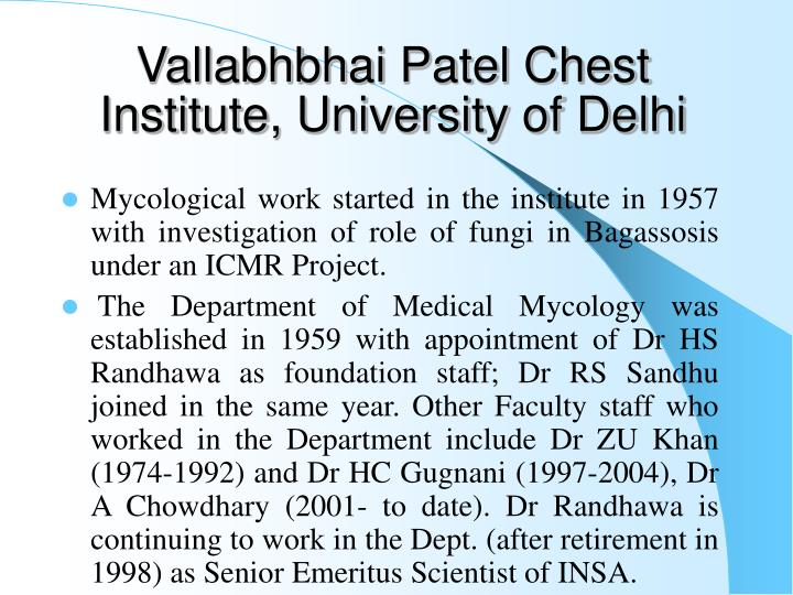 Vallabhbhai Patel Chest Institute, University of Delhi
