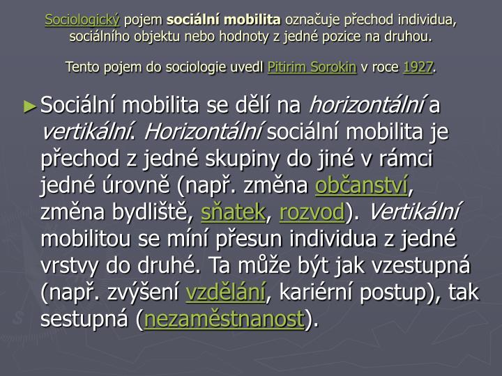 Sociologický