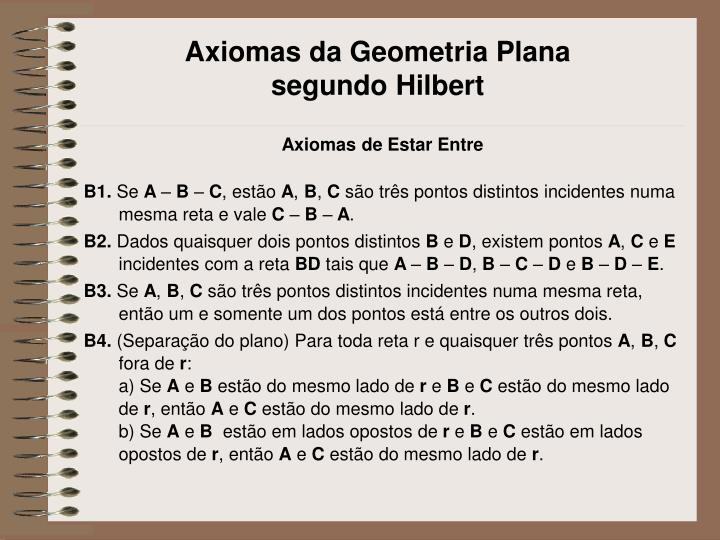Axiomas da Geometria Plana