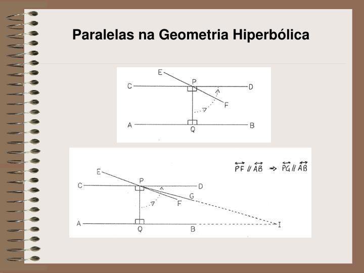 Paralelas na Geometria Hiperbólica