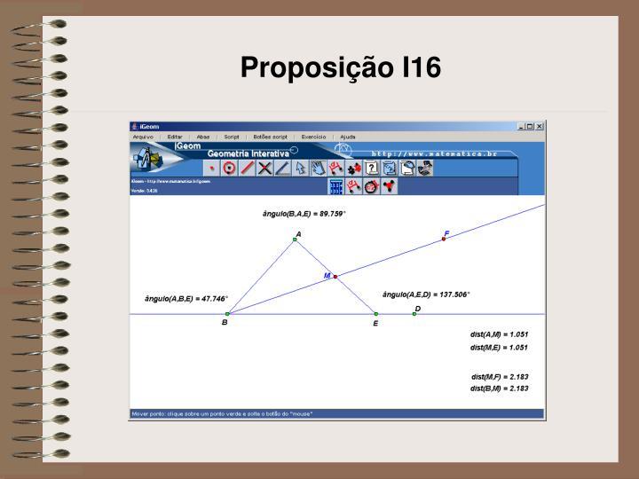 Proposição I16