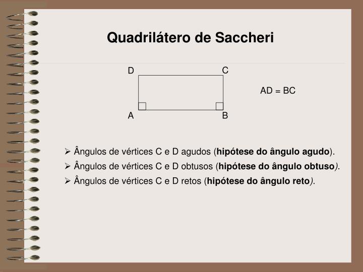 Quadrilátero de Saccheri