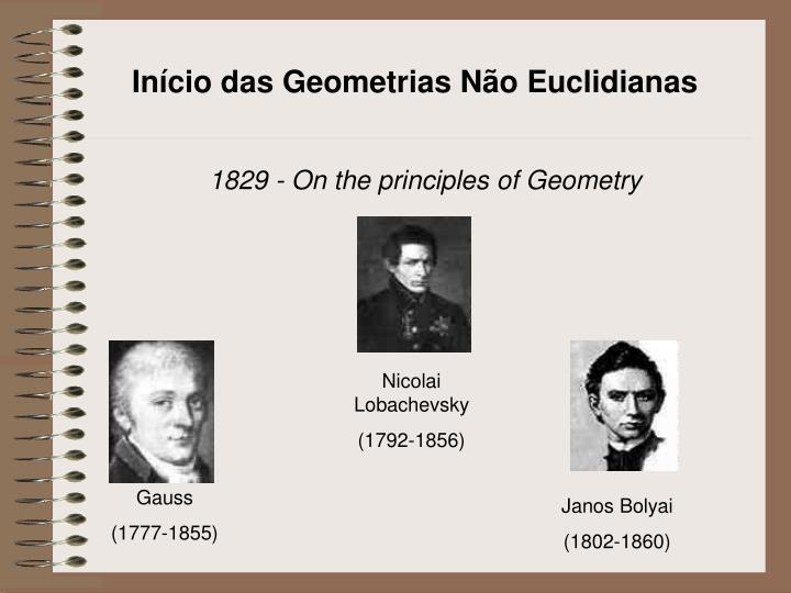 Início das Geometrias Não Euclidianas
