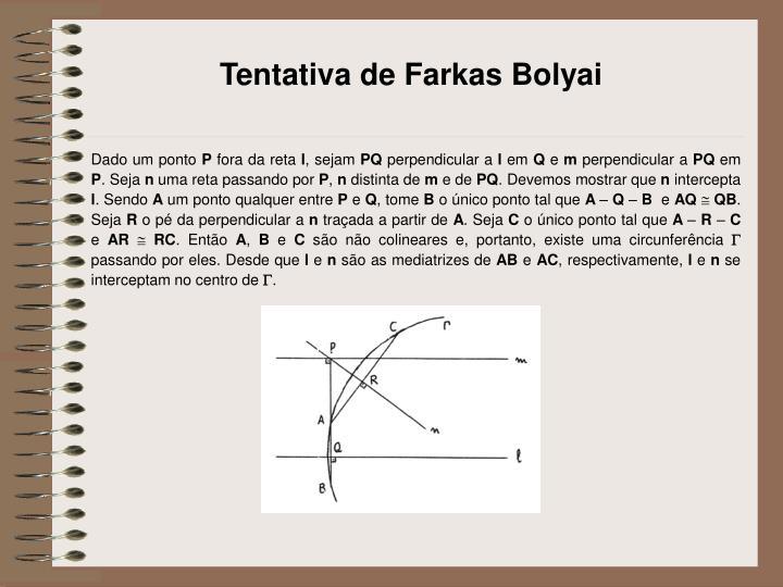 Tentativa de Farkas Bolyai