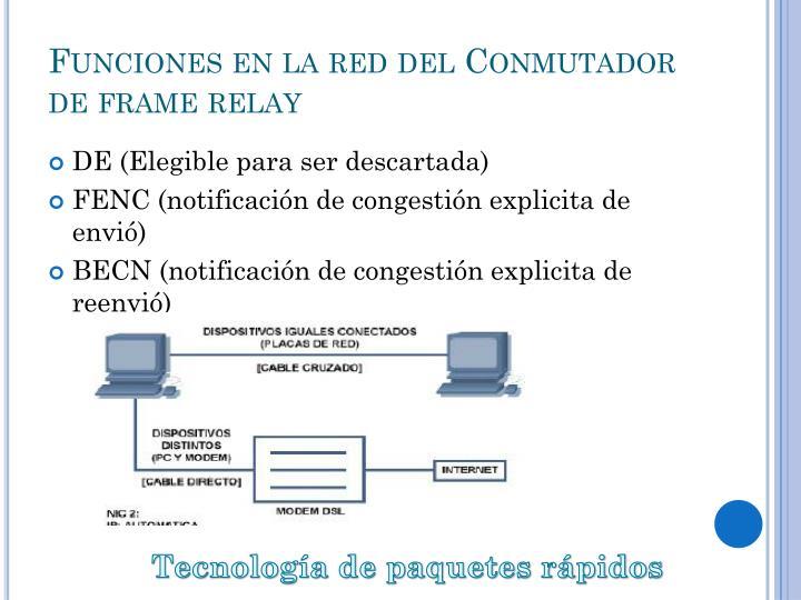 Funciones en la red del Conmutador de