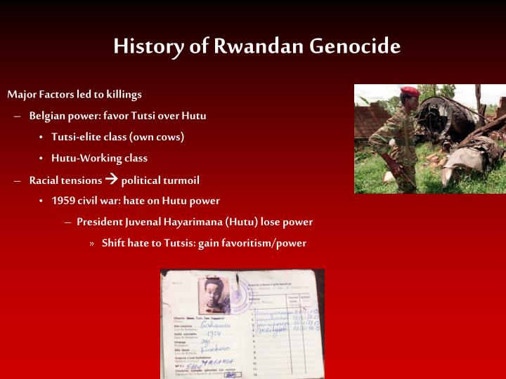 the rwandan genocide the factors that contributed to the killings Us chose to ignore rwandan genocide  senior officials privately used the word genocide within 16 days of the start of the killings, but chose not to do so publicly because the president had .