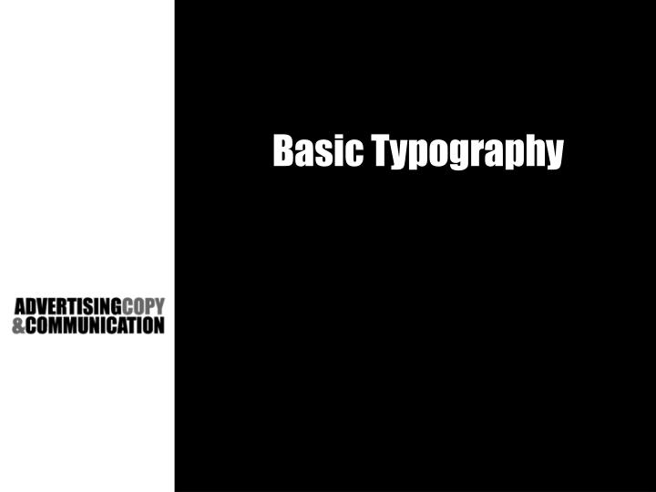 Basic typography