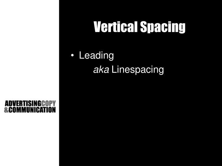 Vertical Spacing