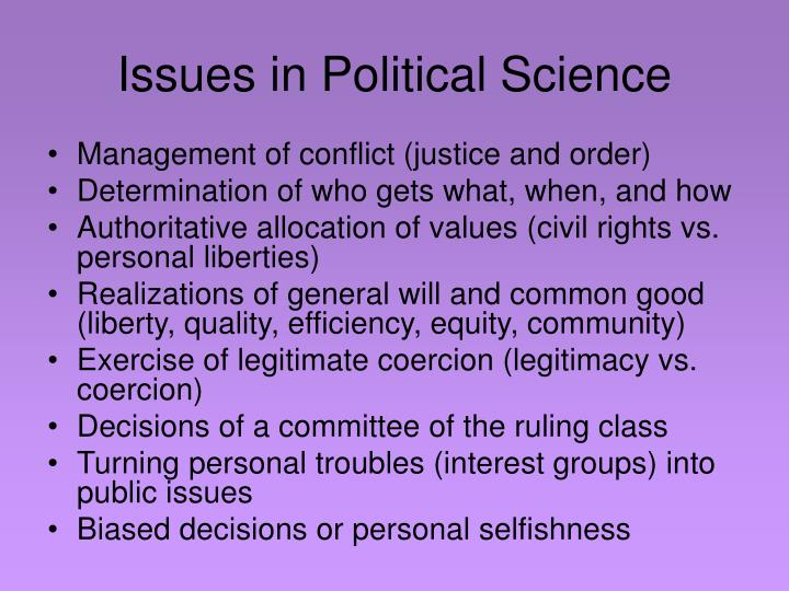 Issues in Political Science