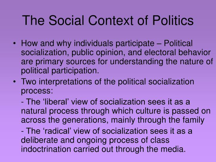 The Social Context of Politics