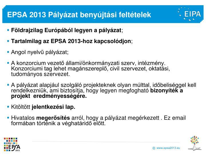 EPSA 2013