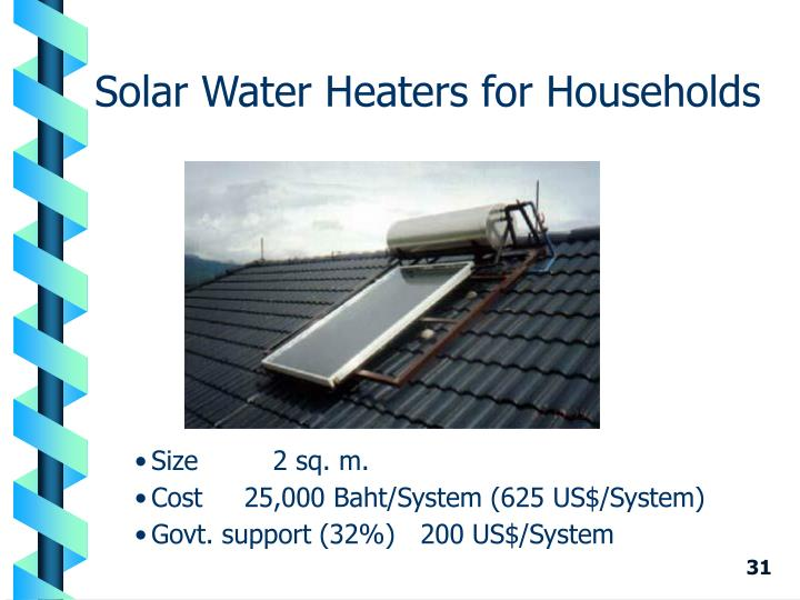 Solar Water Heaters for Households