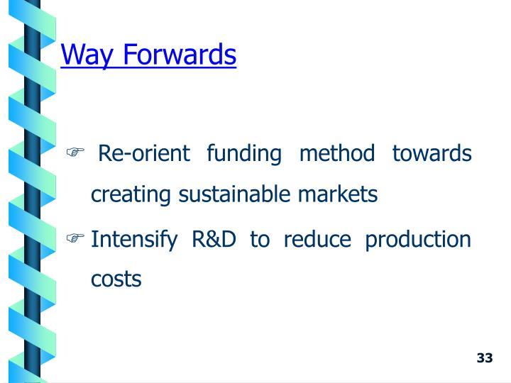 Way Forwards