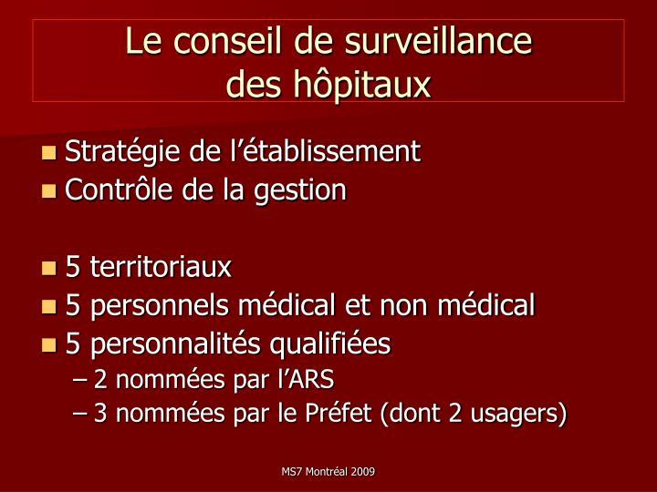 Le conseil de surveillance