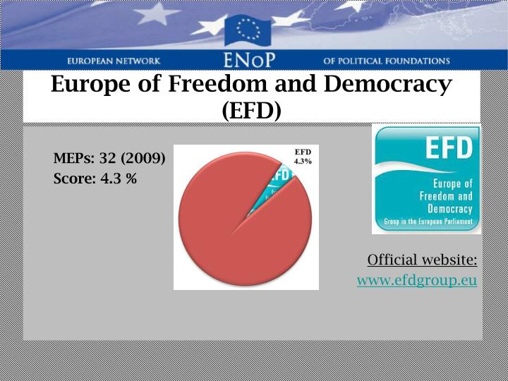 Europe of Freedom and Democracy (EFD)