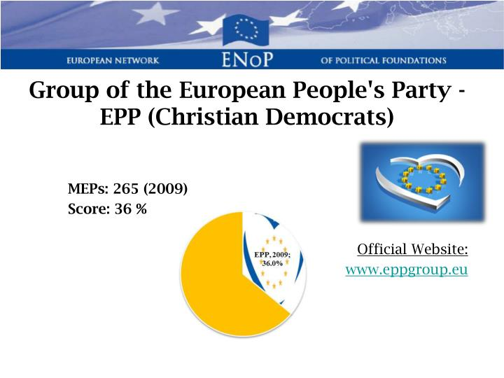 Group of the European People's Party - EPP (Christian Democrats)