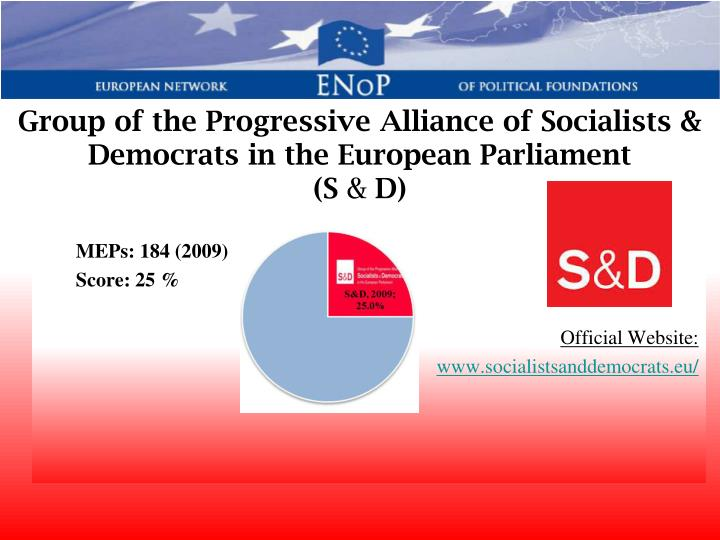 Group of the Progressive Alliance of Socialists & Democrats in the European Parliament