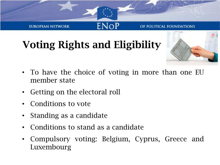 Voting Rights and Eligibility