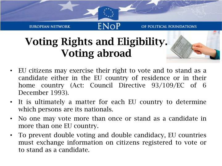 Voting Rights and Eligibility.