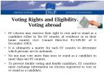 voting rights and eligibility voting abroad