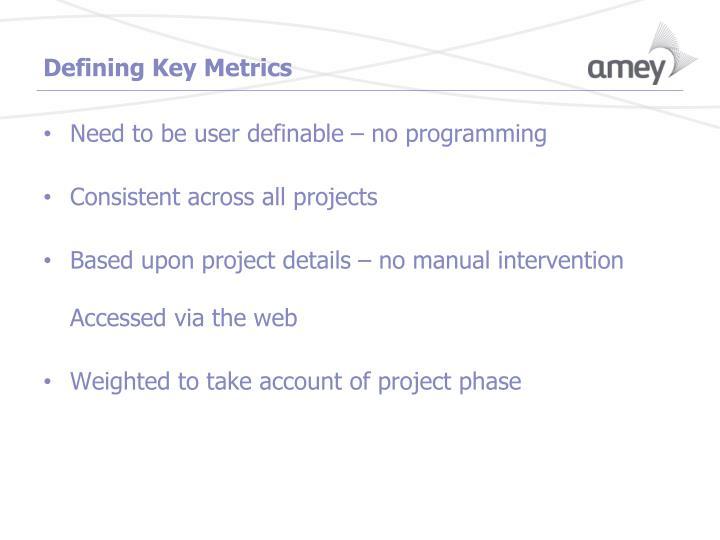 Defining Key Metrics
