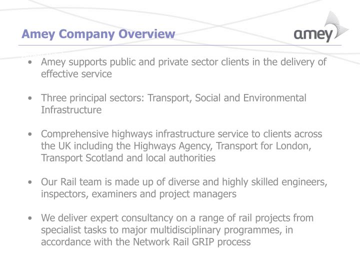 Amey Company Overview
