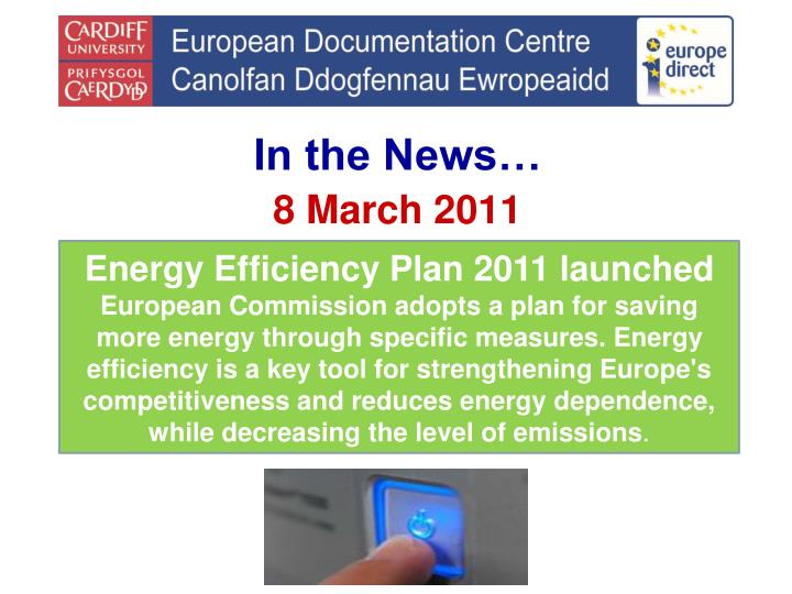 Energy Efficiency Plan 2011 launched