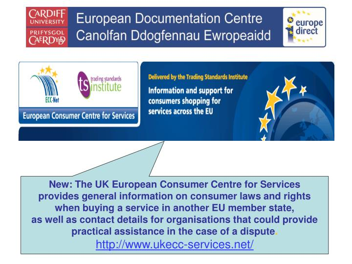 New: The UK European Consumer Centre for Services