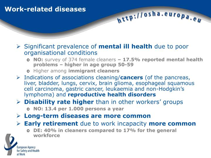 Work-related diseases