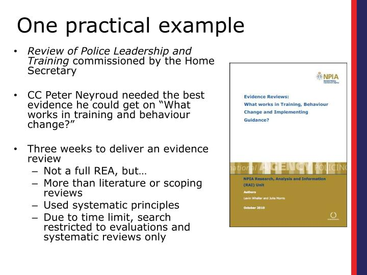 Review of Police Leadership and Training