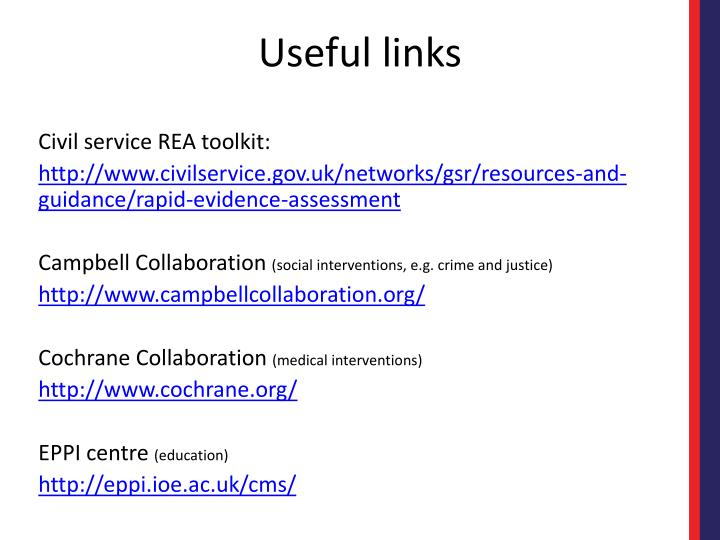 Civil service REA toolkit: