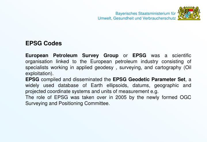 EPSG Codes