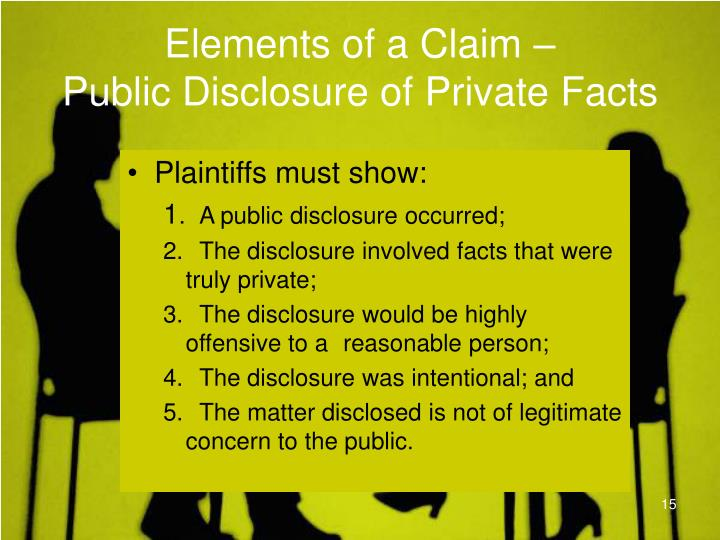 Elements of a Claim –