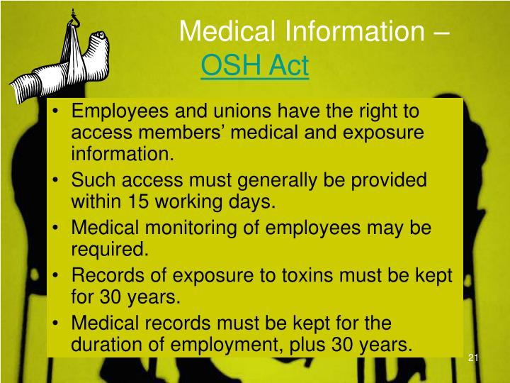 Medical Information –