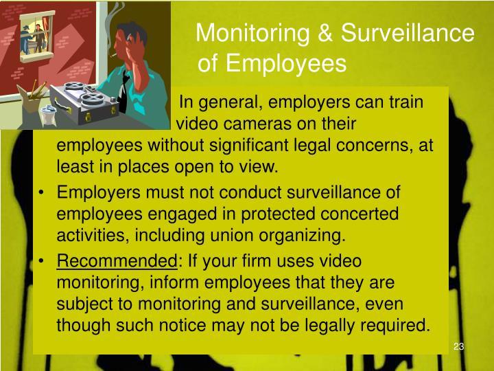 Monitoring & Surveillance