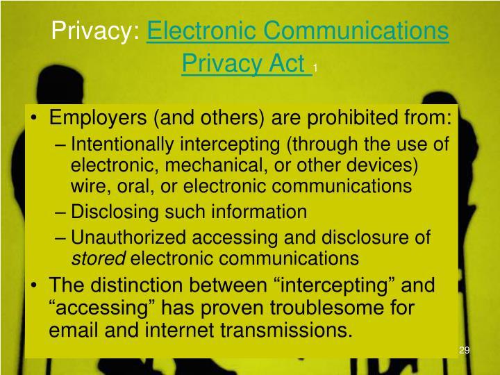 Privacy: