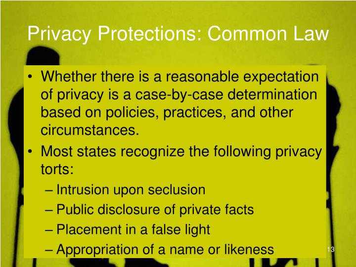 Privacy Protections: Common Law
