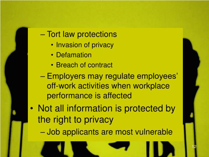 Tort law protections