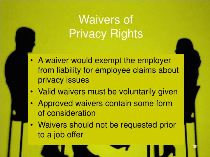 Waivers of