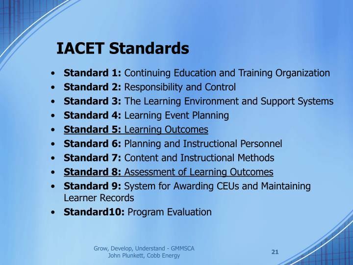 IACET Standards