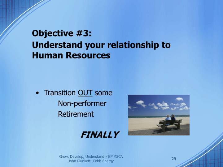 Objective #3: