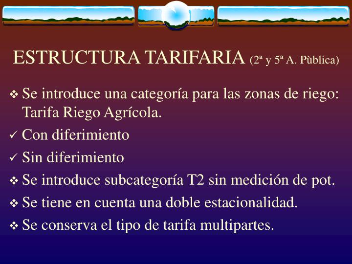 ESTRUCTURA TARIFARIA