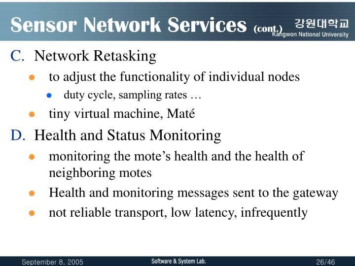 Sensor Network Services