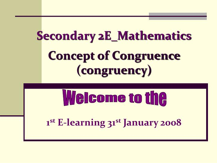 Secondary 2e mathematics