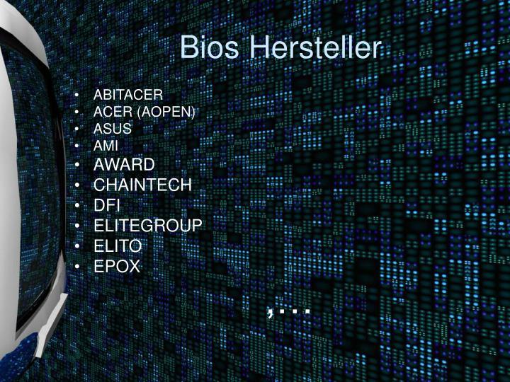 Bios Hersteller